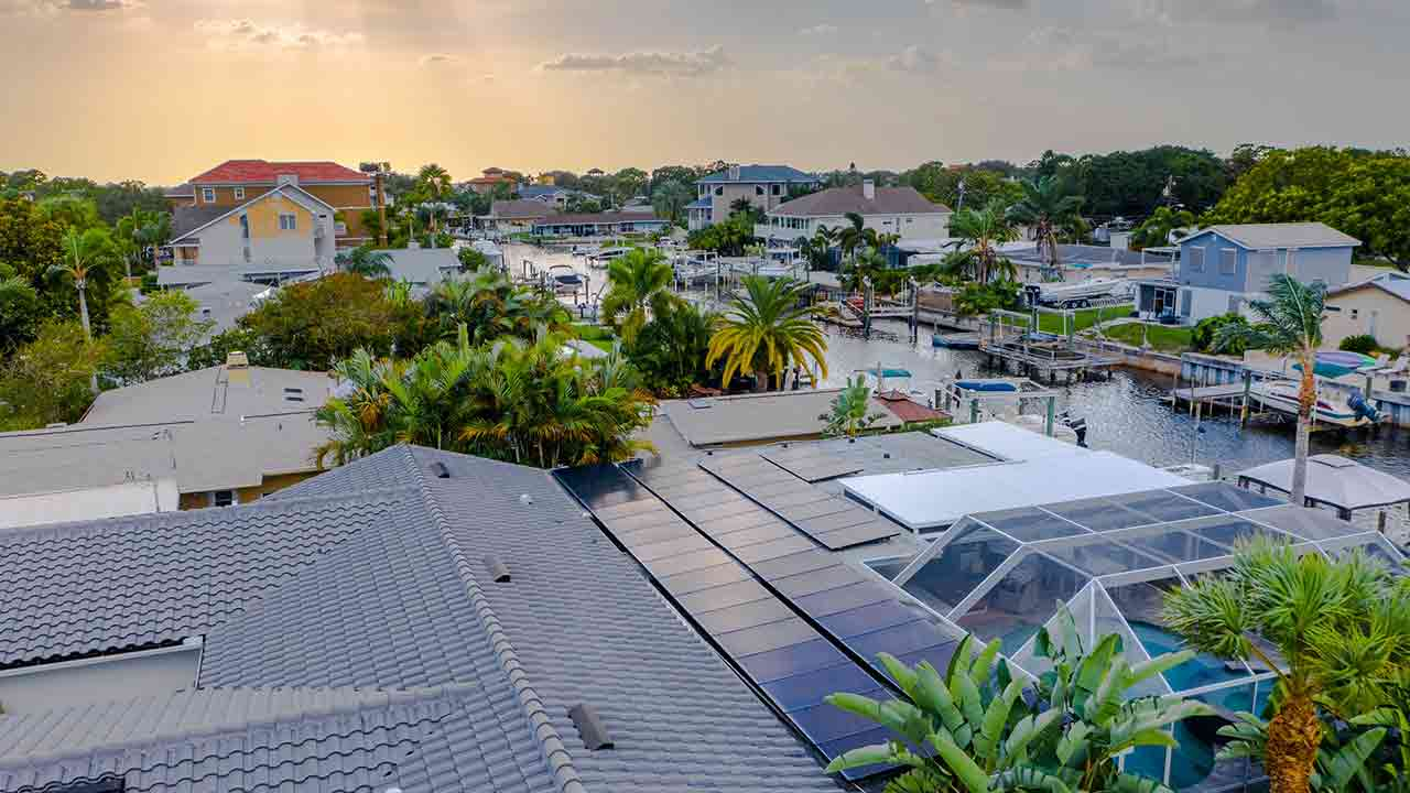 45 Solar panels pitched to the South | Solar Tech Elec