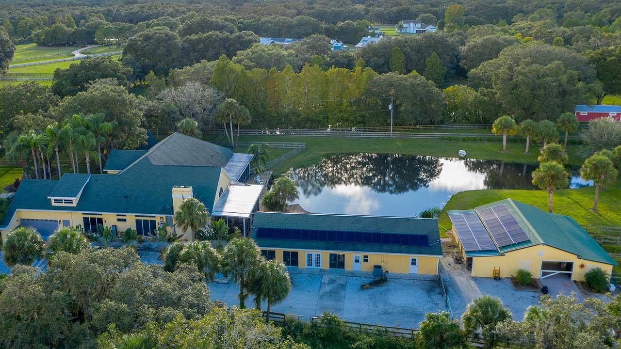 Sarasota Ranch Reduces Power Bill Drastically   Solar Tech Elec
