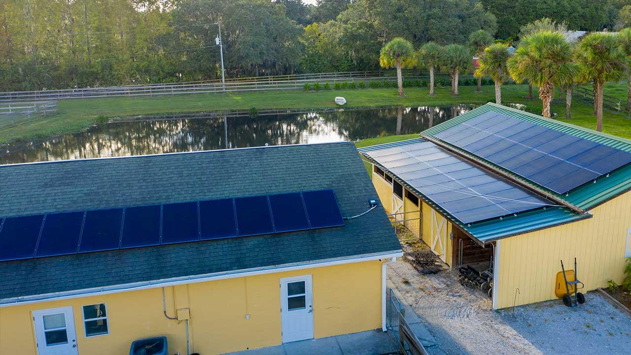 Solar System Installation in Sarasota County Ranch.